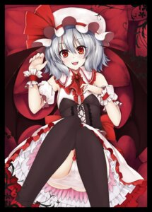 Rating: Questionable Score: 22 Tags: pantsu remilia_scarlet thighhighs touhou utakata wings User: Mr_GT