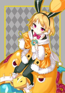 Rating: Safe Score: 22 Tags: animal_ears bunny_ears disgaea disgaea_5 kikimi pantyhose prinny usalia User: Mr_GT