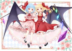 Rating: Safe Score: 14 Tags: flandre_scarlet huayue remilia_scarlet touhou wings User: gnarf1975