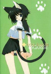 Rating: Questionable Score: 7 Tags: animal_ears nakamura_takeshi nekomimi pantsu paper_texture seifuku tail User: admin2