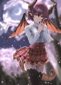Rating: Safe Score: 11 Tags: grea_(shingeki_no_bahamut) horns manaria_friends monster_girl pointy_ears seifuku skirt_lift tagme tail thighhighs wings User: dick_dickinson