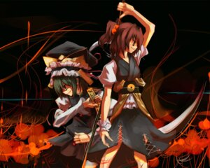 Rating: Safe Score: 5 Tags: onozuka_komachi shikieiki_yamaxanadu touhou wallpaper User: gull