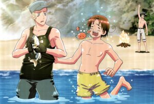 Rating: Safe Score: 10 Tags: crease germany hetalia_axis_powers japan male north_italy scanning_artifacts User: yumichi-sama