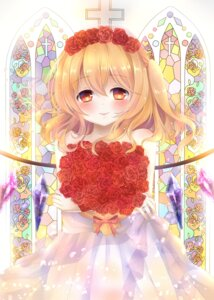 Rating: Safe Score: 35 Tags: dress flandre_scarlet mumu-crown touhou wedding_dress wings User: Mr_GT