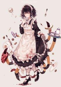 Rating: Safe Score: 30 Tags: blood heels heterochromia maid monster_girl skirt_lift y_o_u_k_a User: Mr_GT