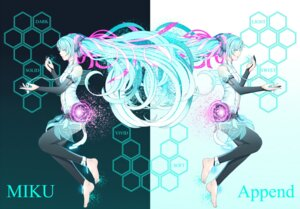 Rating: Safe Score: 11 Tags: hatsune_miku kazura thighhighs vocaloid User: Radioactive