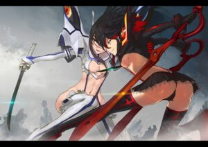 Rating: Questionable Score: 48 Tags: cleavage kill_la_kill kiryuuin_satsuki m874 matoi_ryuuko sword thighhighs underboob User: Radioactive