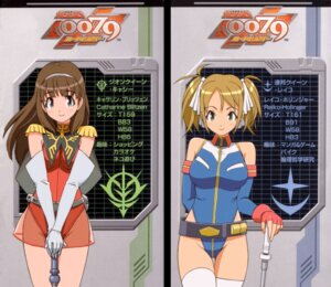 Rating: Safe Score: 13 Tags: catharine_blitzen gundam gundam_0079_card_builder leotard profile_page reiko_holinger see_through thighhighs uniform yoshizaki_mine User: admin2