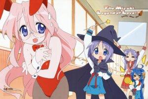 Rating: Safe Score: 16 Tags: animal_ears bunny_ears bunny_girl cosplay hiiragi_kagami hiiragi_tsukasa horiguchi_yukiko izumi_konata lucky_star seifuku takara_miyuki User: vita