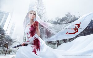 Rating: Safe Score: 55 Tags: aya_brea blood cg dress gun parasite_eve the_3rd_birthday wallpaper wedding_dress User: Samurai_Soul