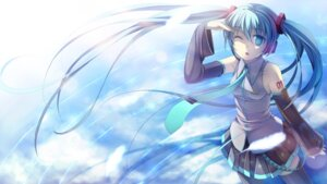 Rating: Safe Score: 36 Tags: hatsune_miku headphones namaru vocaloid wallpaper User: charunetra