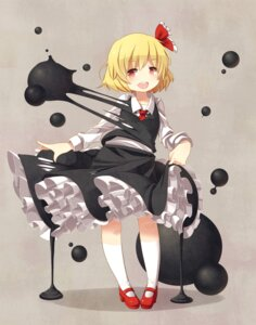Rating: Safe Score: 21 Tags: blueberry_(5959) heels rumia skirt_lift torn_clothes touhou User: Mr_GT