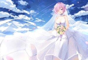 Rating: Safe Score: 29 Tags: dress fate/grand_order mash_kyrielight maya_g see_through wedding_dress User: Mr_GT