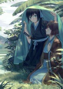Rating: Safe Score: 32 Tags: hibike!_euphonium kimono kousaka_reina norizc oumae_kumiko sword User: Noodoll