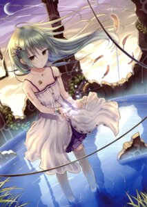 Rating: Safe Score: 84 Tags: boku_to_kimi_to_kakuusekai_to dress kazuharu_kina thighhighs User: fireattack
