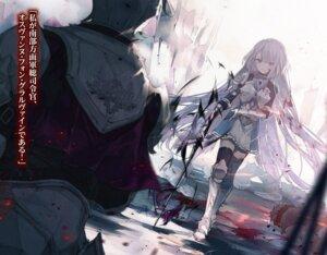 Rating: Safe Score: 22 Tags: armor blood cierra_(artist) shinigami_ni_sodaterareta_shoujo_wa_shikkoku_no_ken_wo_mune_ni_idaku sword tagme thighhighs uniform User: kiyoe