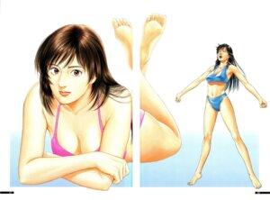 Rating: Safe Score: 6 Tags: bikini cleavage family_compo feet gap houjou_tsukasa swimsuits wakanae_shion User: Radioactive