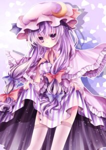 Rating: Safe Score: 25 Tags: mikazuki_sara patchouli_knowledge thighhighs touhou User: Radioactive