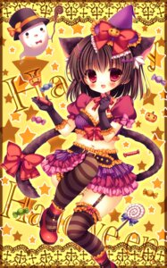 Rating: Questionable Score: 31 Tags: animal_ears cleavage halloween heels kouta. nekomimi stockings tail thighhighs witch User: 椎名深夏