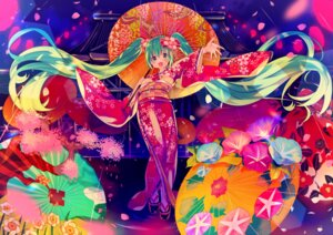 Rating: Safe Score: 20 Tags: hatsune_miku ikari_(aor3507) kimono umbrella vocaloid User: Mr_GT