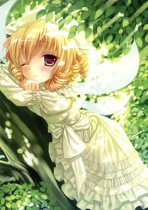 Rating: Safe Score: 40 Tags: dress kinokonomi konomi luna_child macchatei_koeda touhou wings User: fireattack