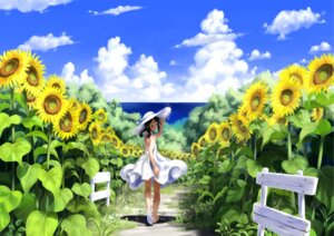 Rating: Safe Score: 28 Tags: dress imaoka landscape summer_dress User: V_Phantom