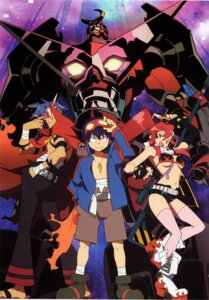 Rating: Safe Score: 18 Tags: bikini_top boota kamina mecha simon swimsuits tengen_toppa_gurren_lagann thighhighs yoko User: charunetra