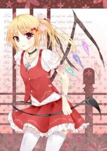 Rating: Safe Score: 17 Tags: amatsuki_hotaru flandre_scarlet tail thighhighs touhou wings User: Nekotsúh