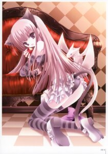 Rating: Safe Score: 25 Tags: animal_ears ass lolita_fashion nekomimi nusunde_lilith pantsu skirt_lift tail thighhighs tinkle User: fireattack