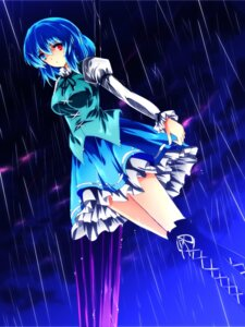 Rating: Safe Score: 10 Tags: heterochromia nekominase tatara_kogasa thighhighs touhou User: Injection