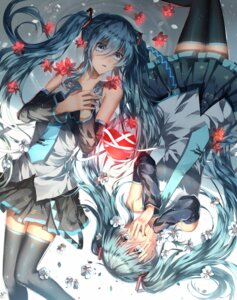 Rating: Safe Score: 43 Tags: fuuna_(conclusion) hatsune_miku thighhighs vocaloid User: LolitaJoy