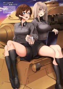 Rating: Safe Score: 25 Tags: girls_und_panzer itsumi_erika koko_shiguma nishizumi_maho skirt_lift uniform yuri User: drop