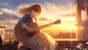 Rating: Safe Score: 27 Tags: guitar neko romiy User: RyuZU