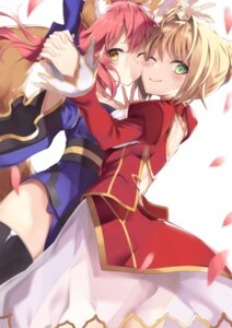 Rating: Safe Score: 37 Tags: animal_ears caster_(fate/extra) dress fate/extra fate/grand_order fate/stay_night mafu9 saber_extra see_through symmetrical_docking tail thighhighs User: Mr_GT