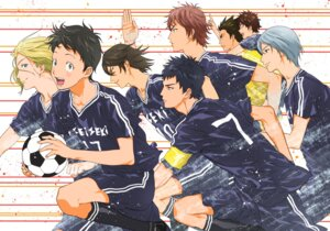 Rating: Safe Score: 7 Tags: days_(tv) haibara_shirou inohara_susumu kazama_jin kimidake kimishita_atsushi male mizuki_hisahito ooshiba_kiichi soccer tsukamoto_tsukushi uniform usui_yuuta User: charunetra