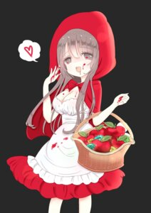 Rating: Questionable Score: 12 Tags: blood cleavage cosplay dress little_red_riding_hood_(character) shiina_melon User: KazukiNanako