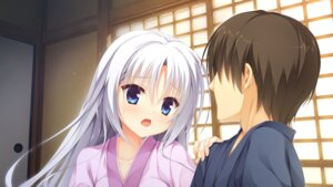 Rating: Safe Score: 30 Tags: game_cg kobuichi senren_banka tomotake_yoshino yukata yuzu-soft User: JamesXeno