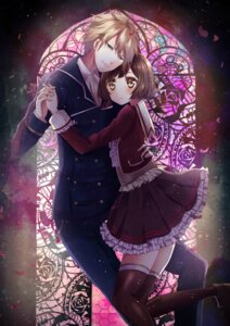 Rating: Safe Score: 3 Tags: dance_with_devils kaginuki_rem seifuku tachibana_ritsuka tagme thighhighs User: charunetra