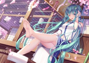 Rating: Safe Score: 99 Tags: cosplay feet hatsune_miku kochiya_sanae pupupu_(1053378452) touhou vocaloid wet User: Mr_GT