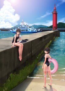 Rating: Safe Score: 36 Tags: ass chikuwa_(glossymmmk) feet school_swimsuit swimsuits User: charunetra