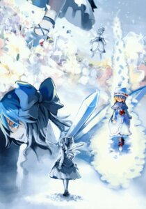 Rating: Safe Score: 8 Tags: cat.lqe cirno lily_white moe_shoujo_ryouiki scanning_dust touhou User: midzki