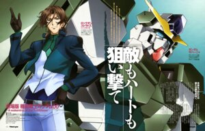 Rating: Safe Score: 2 Tags: chiba_michinori gundam gundam_00 gundam_00:_a_wakening_of_the_trailblazer gundam_zabanya lockon_stratos lyle_dylandy male mecha ootsuka_ken uniform User: Share