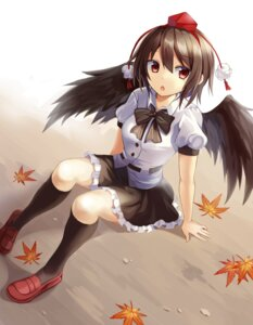 Rating: Safe Score: 33 Tags: seifuku shameimaru_aya touhou wings yuusa User: Mr_GT