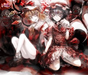Rating: Safe Score: 14 Tags: asuka_(moto) flandre_scarlet remilia_scarlet touhou User: Mr_GT