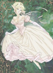 Rating: Safe Score: 16 Tags: cleavage deedlit dress elf pointy_ears record_of_lodoss_war viviane wedding_dress User: Radioactive