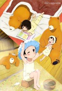 Rating: Questionable Score: 35 Tags: amayadori_machi bathing kumai_natsu kumamiko matsuo_akiko pajama towel User: drop