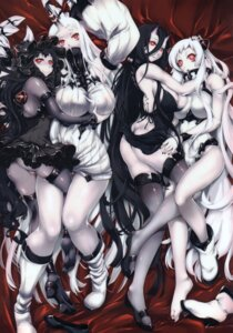 Rating: Questionable Score: 86 Tags: airfield_hime battleship-symbiotic_hime bodysuit breast_grab cameltoe cleavage dress erect_nipples heels horns isolated_island_oni kantai_collection no_bra nopan ouma_tokiichi pantsu seaport_hime shimoyakedou thighhighs User: DDD