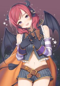Rating: Safe Score: 18 Tags: breast_hold halloween headphones horns love_live! nishikino_maki tagme tail wings User: Mr_GT