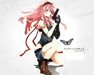 Rating: Safe Score: 35 Tags: blood cleavage gun hatsuko megurine_luka vocaloid wallpaper User: Amperrior