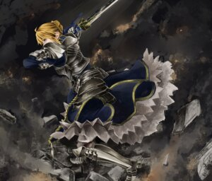 Rating: Safe Score: 33 Tags: armor dress fate/stay_night fate/zero saber shinoji sword User: Radioactive